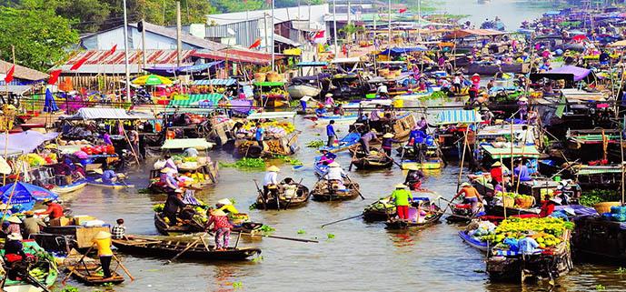 marche flottant Cai Be